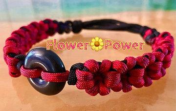 Flower Power, Sliding Knot, Shungite Collar