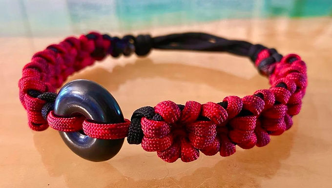 Sliding-Knots Shungite Collar 12-15 inches