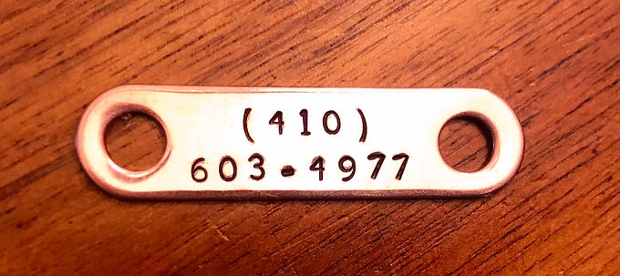 Custom Hand Stamped Copper Add-On ID Tag