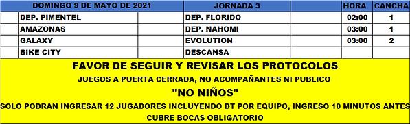 Rol LF Domingo J3 Torneo 2021 (9-5-2021)