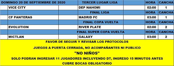 Rol LF Domingo final, 3er lugar, final c