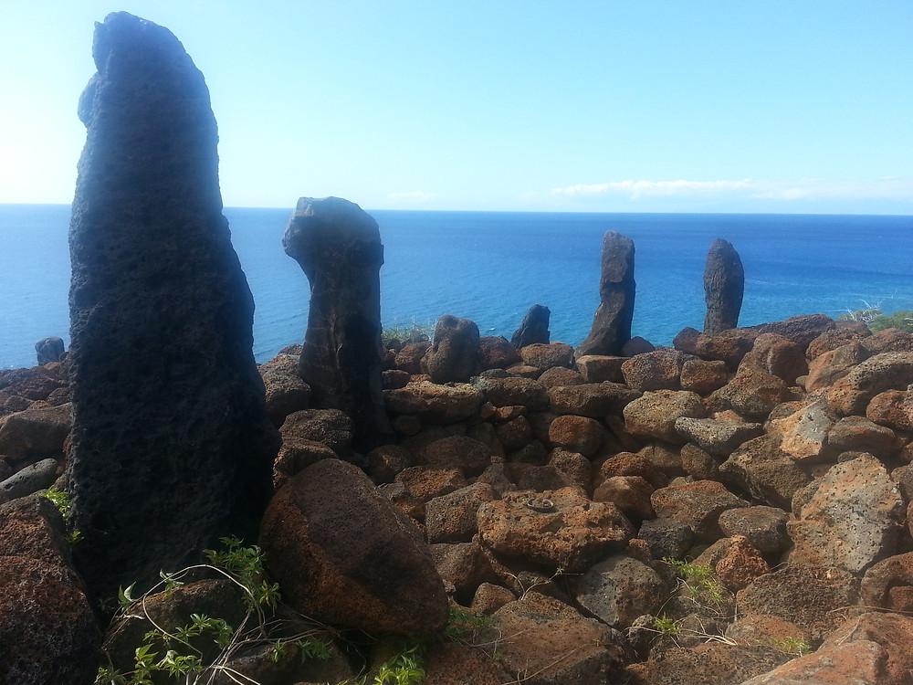 Big Island standing stones, the navigator stones