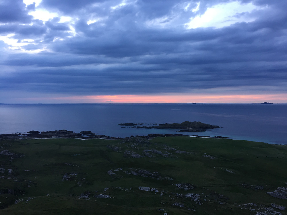 Sunset on Iona viewed from Dun I