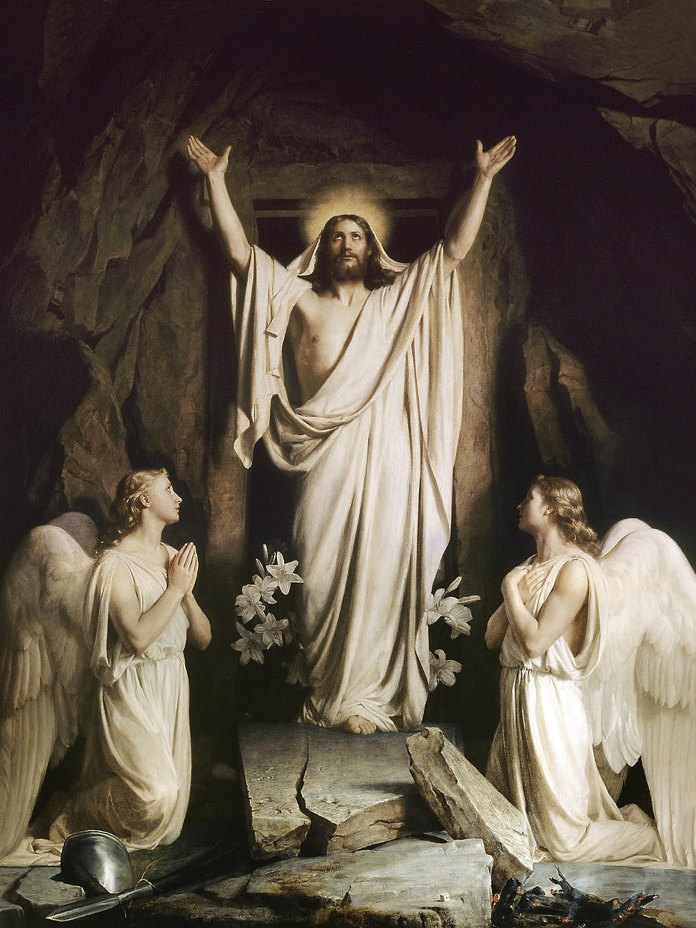 Resurrection of Jesus Christ Painting by Carl Bloch
