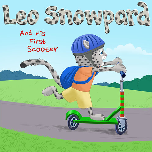 Leo Snowpard and His First Scooter