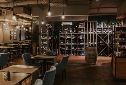 Restaurant and wine shop
