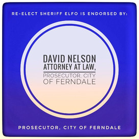 Honored to recieve the #endorsement of David Nelson Attorney at Law, Proescutor, City of Ferndale