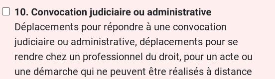 Attestation dérogatoire COVID-19