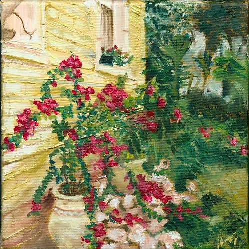 Landscape Painting - Blooming of Bougainvillea