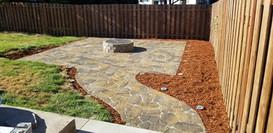 16x16 fire pit patio with walk way