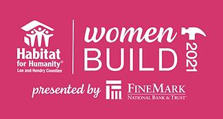 21 Women Build Logo - raspberry backgrou
