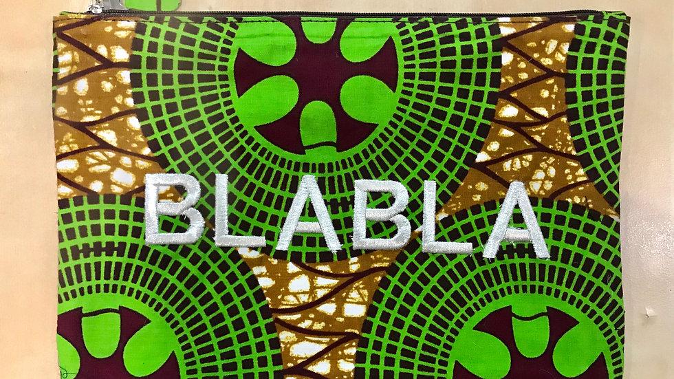 Pochette BLABLA Wax - verte