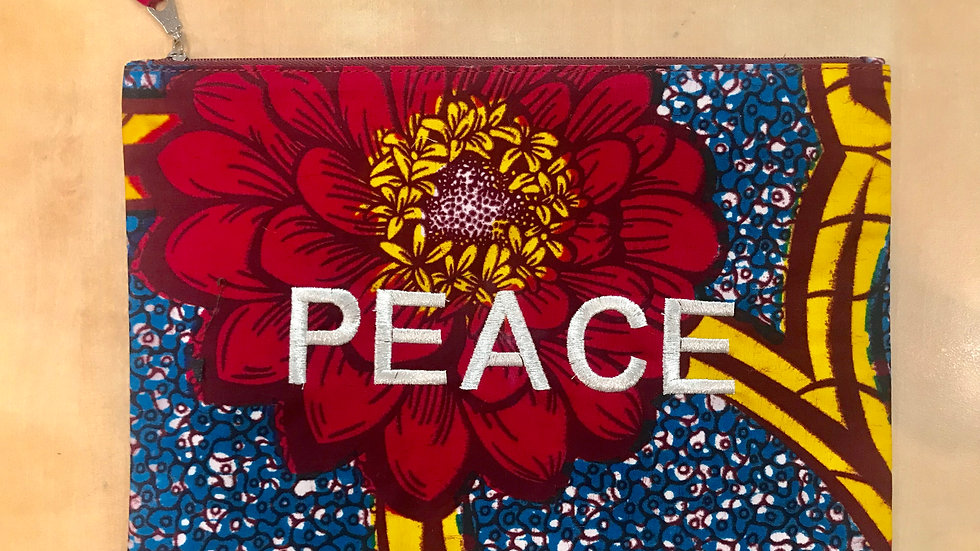 Pochette PEACE Wax - rouge