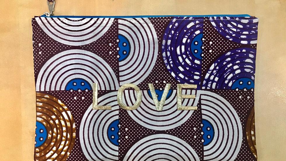 Pochette LOVE Wax - violette