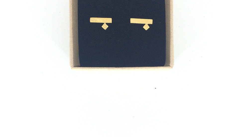 PICASSO EARSTUDS PLATED GOLD