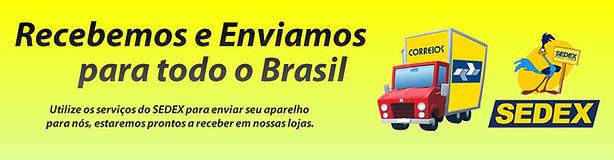 Recebemos e enviamos para todo Brasil
