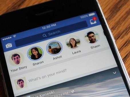 Facebook Stories ganha opção de compartilhar histórias com seguidores