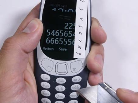 Indestrutível? Novo Nokia 3310 é colocado à prova em teste [vídeo]
