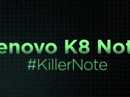 Lenovo K8 Note: anúncio revela celular intermediário cheio de recursos