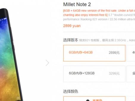 Xiaomi revela Mi Note 2 Special Edition com 6 GB de memória RAM