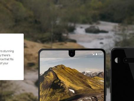 Screenshot do Essential Phone mostra uma barra de notificação bizarra