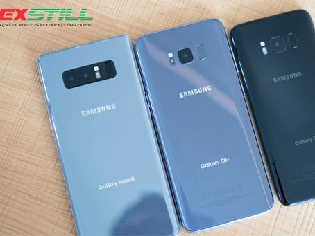 Galaxys S8, S8+ e Note 8 se tornam vítimas de bug que drena a bateria