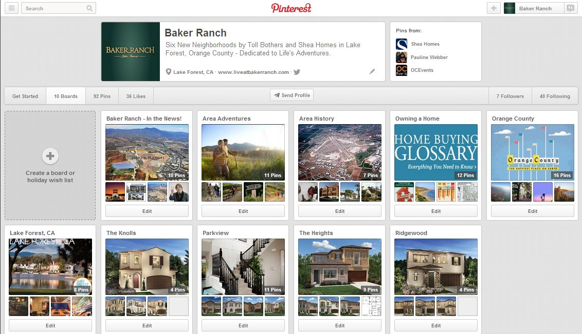 Baker Ranch Pinterest