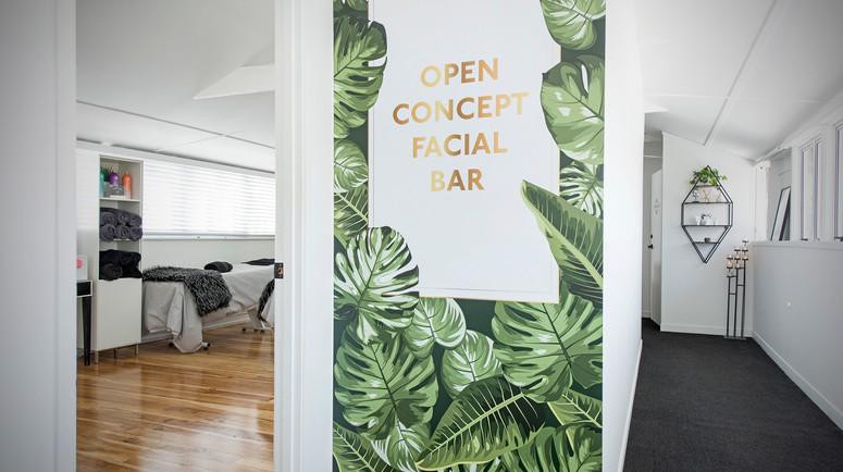 Open Concept Facial Bar