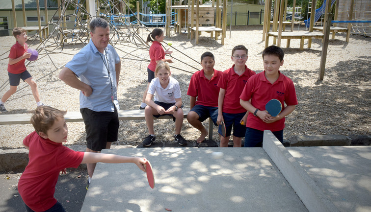 Outdoor Ping-Pong Table at Three Kings School