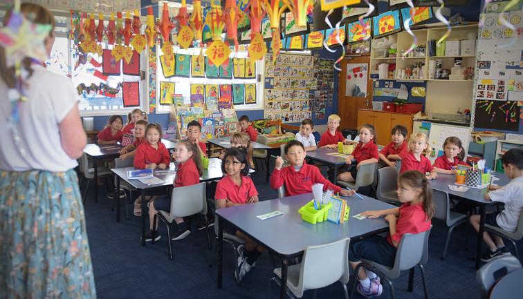 Classroom at Three Kings School