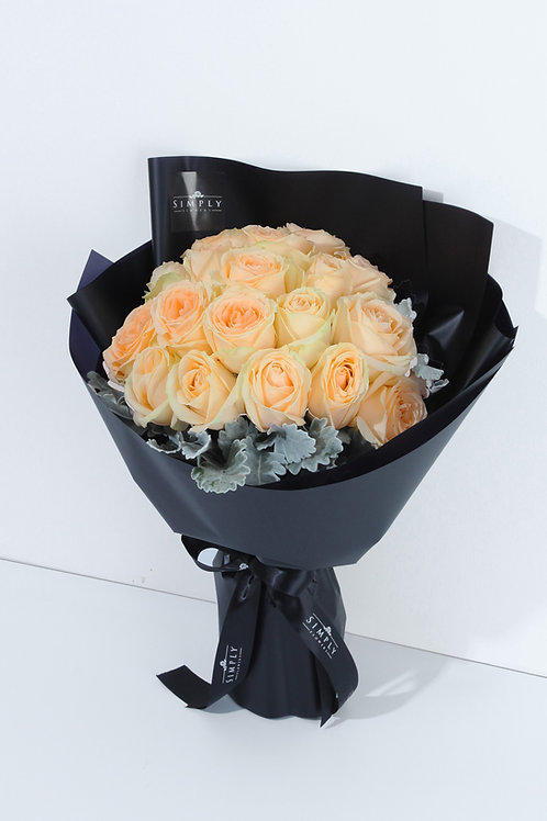 香檳玫瑰 花束