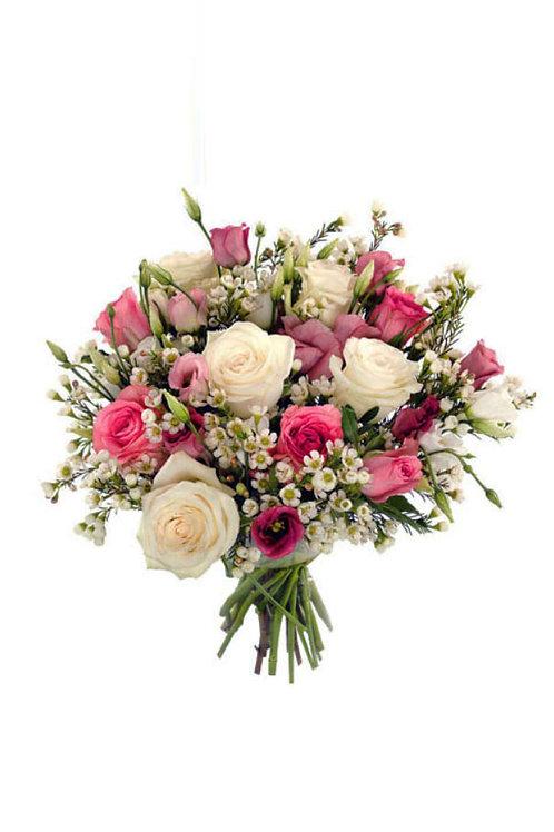 混色玫瑰花束+襯花