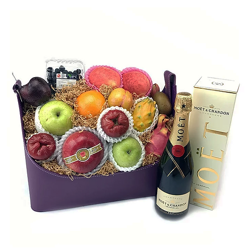 頂級商務端午節果籃+MOET香檳 RL388W