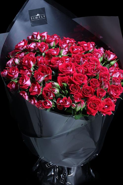 情人節 紅小玫瑰花束
