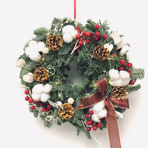 聖誕圈 (新鮮貴族松) 款式A