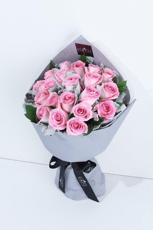 情人節 30支 粉紅玫瑰 花束