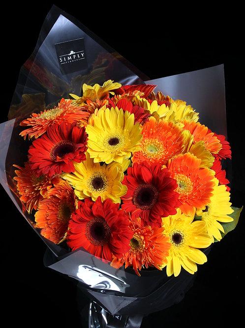 混色太陽花 花束