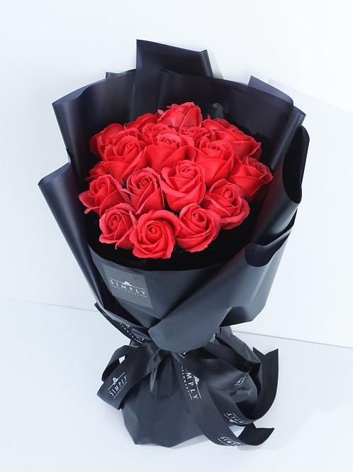 情人節 20支 紅玫瑰香薰花 花束 【非鮮花】