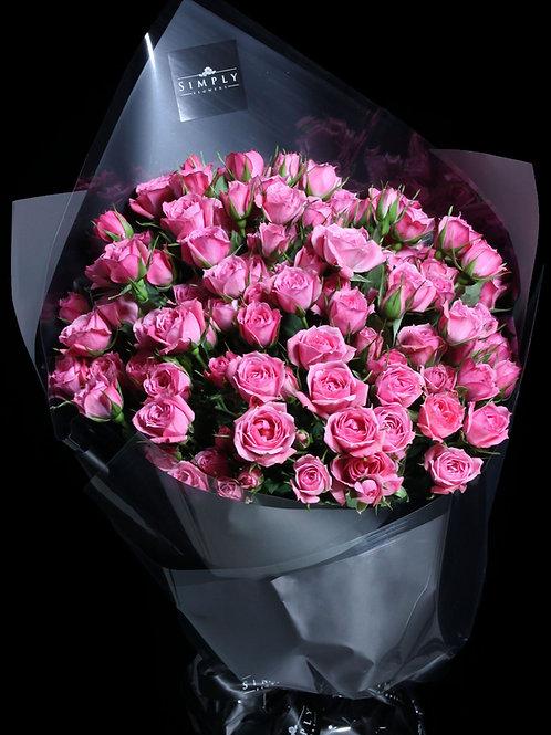 粉紅小玫瑰 花束