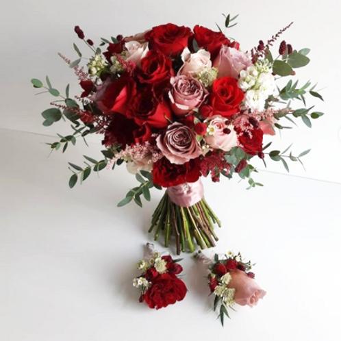 结婚花球 + 襟花 5號款式