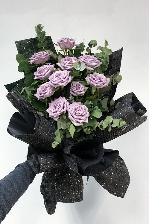 韓式 紫玫瑰 花束