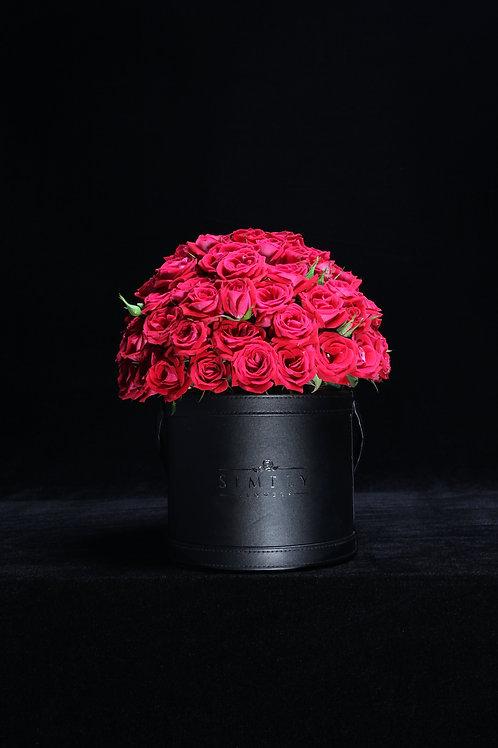 紅小玫瑰 花籃