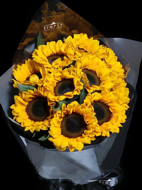 向日葵 花束