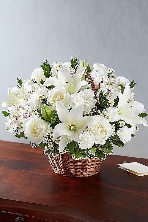 白百合 + 白玫瑰 + 小百合 花藍