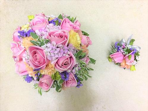 结婚花球 + 襟花 4號款式