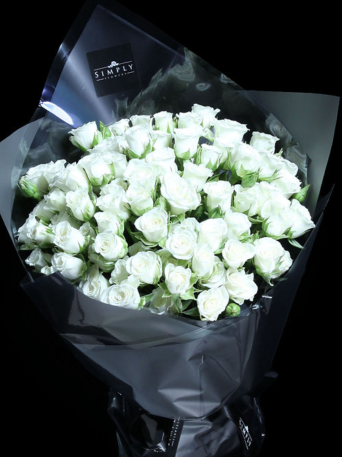 白小玫瑰 花束