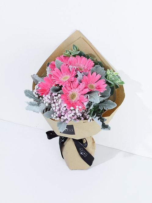 粉色太陽花 畢業花束