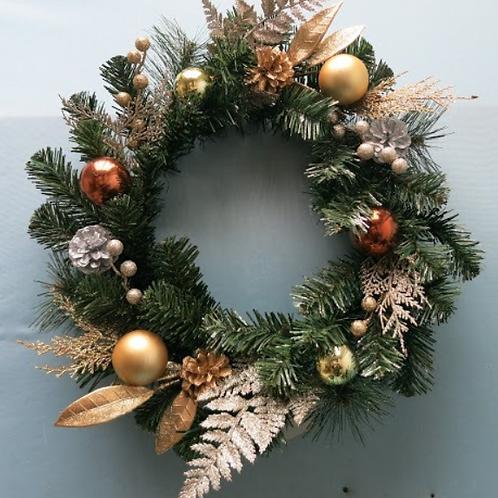 聖誕圈 (新鮮貴族松) 款式B