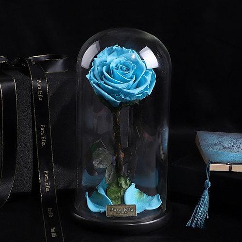 大自然系列 - 單支進口保鮮玫瑰 (淺藍)