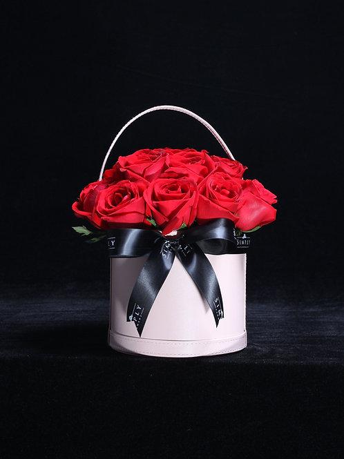 紅玫瑰 花藍